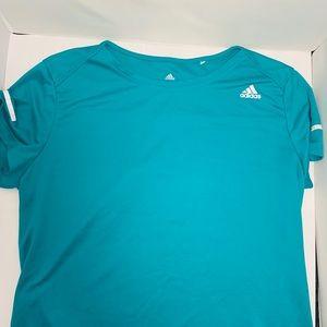 Adidas turquoise ClimaLite short sleeve shirt
